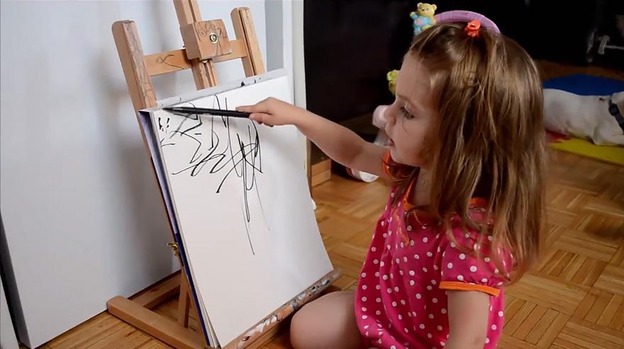 otec pretvara kresby dcery6