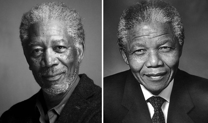 Morgan Freeman ako Nelson Mandella