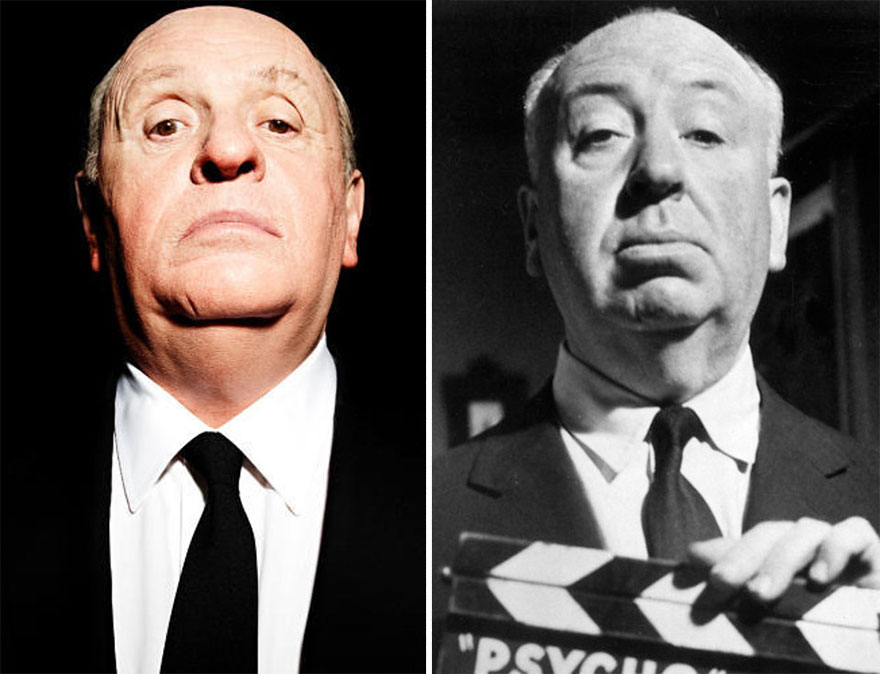 Anthony Hopkins ako Alfred Hitchcock
