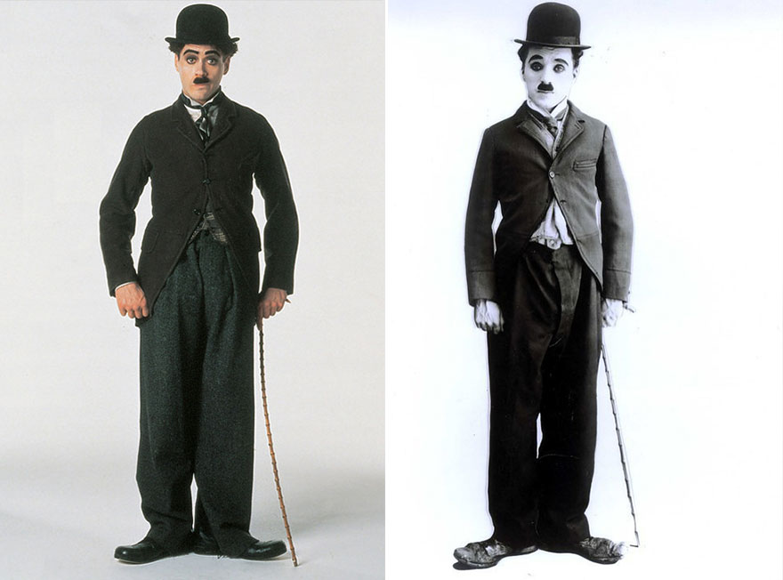 Robert Downey ako Charlie Chaplin