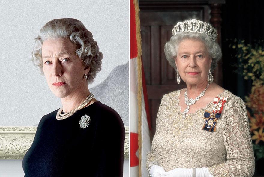 Hellen Mirren ako Kráľovná alžbeta II.