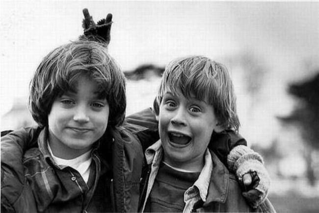 Elijah Wood a Macaulay Culkin, 1993.