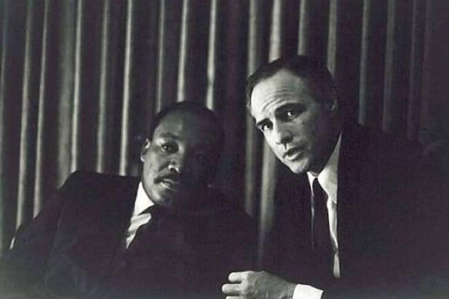Martin Luther King a Marlon Brando.