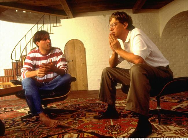 Steve Jobs a Bill Gates sa rozprávajú o budúcnosti počítačovej techniky v roku 1991.