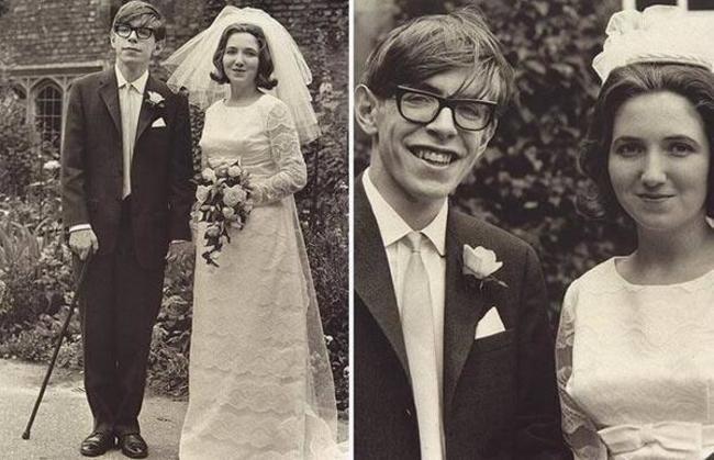 Steven Hawking s jeho manželkou Jane Wilde.