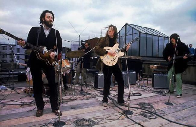 Posledný koncert The Beatles v Londýne. 1969.