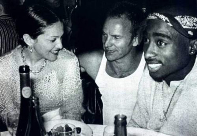 Madonna, Sting a Tupac sedia na pive.