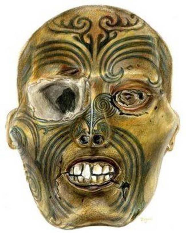Keď človek s Moko tetovaním zomrel, jeho hlava sa často uchovávala a stala sa známa ako Mokomokai.