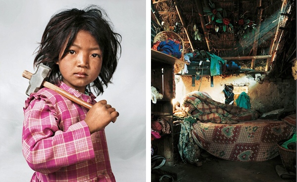 Indira, 7 rokov. Káthmandú, Nepál.