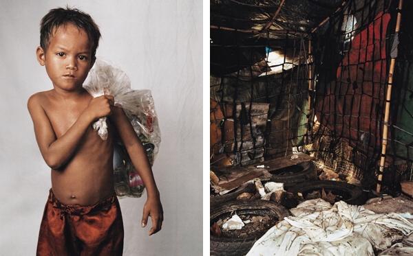 Roathu, 8 rokov. Phnom Penh, Kambodža.
