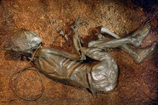 Jedna z najväčších záhad histórie sú telá, ktoré objavili v močariskách severnej Európy. Zachovali sa s kožou aj vnútornými orgánmi. V roku 1965 objavili v močariskách až 1850 takýchto tiel. Takmer neporušené telá tam ležali od čias asi 400 rokov pred naším letopočtom. Niektorí odborníci naznačili, že mŕtvoly by mohli byť obeťami rituálnych vrážd. Zatiaľ sa však nič také nepotvrdilo.