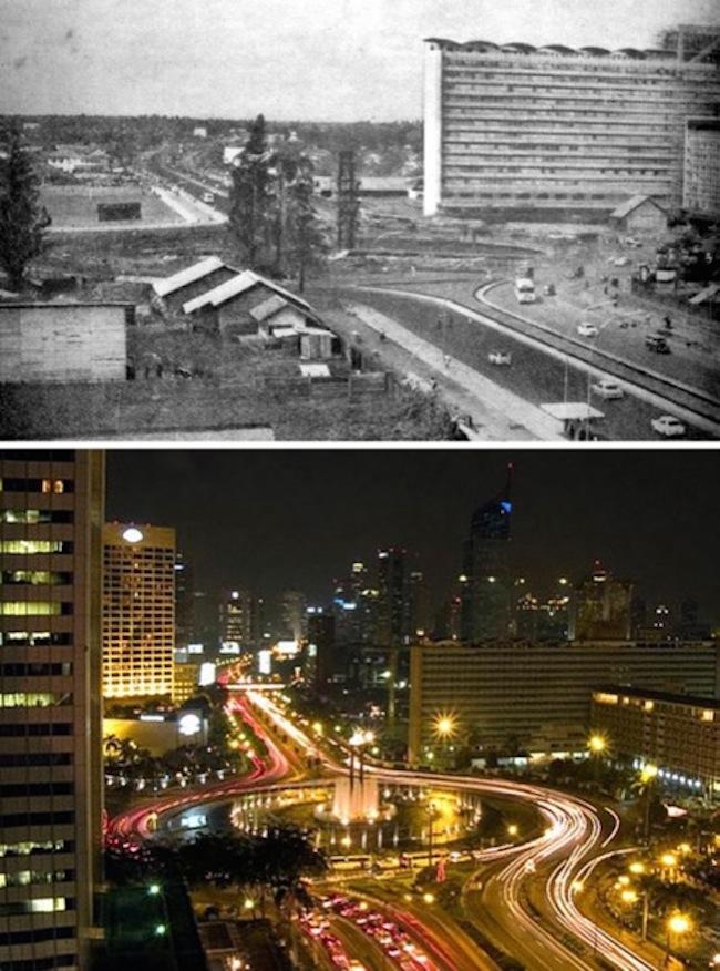 Jakarka, Indonézia, rok 1965- 2005.