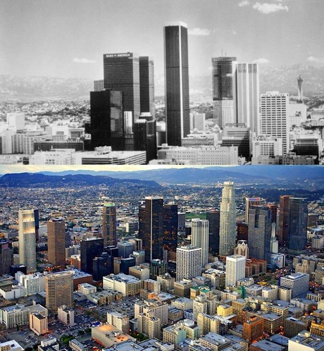 Los Angeles, rok 1970 a dnes.