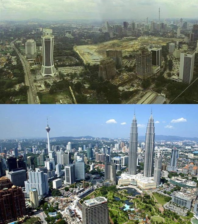 Kuala Lumpur Malajzia, rok 1990- 2014-