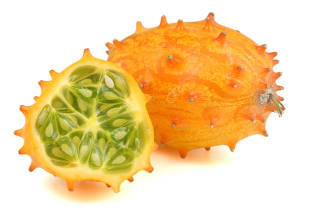 Menej známa odroda melónu (Horned melon).
