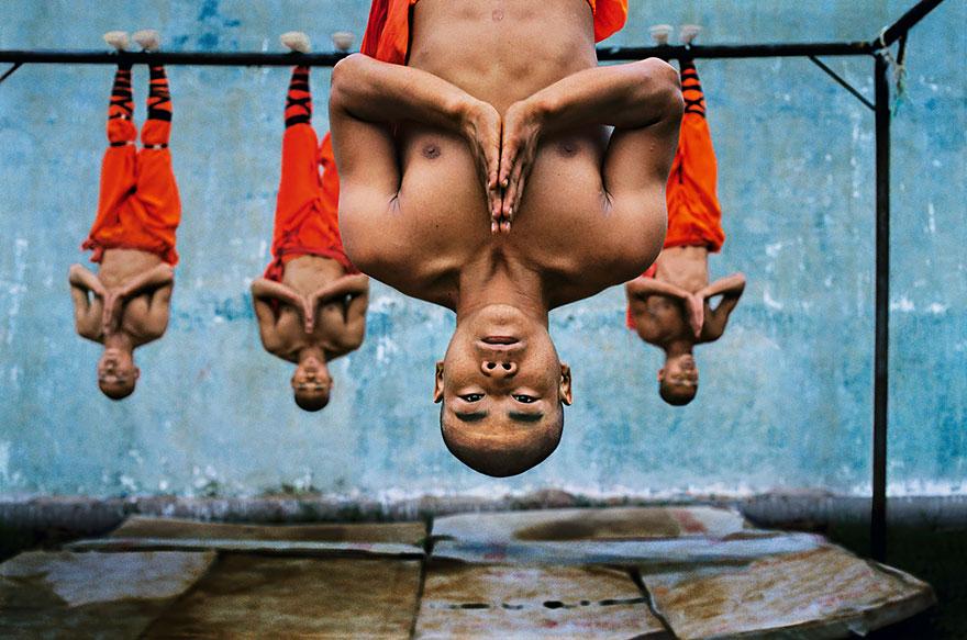 Tradičný tréning šaolínskych mníchov.