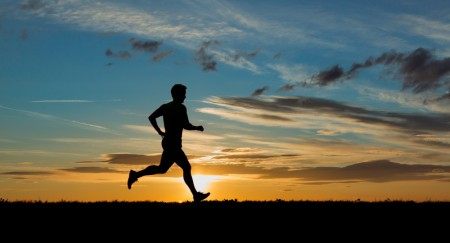Running-at-sunset